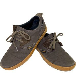 Cushe Lax Canvas Shoe Men's Leather Rubber Lace Up